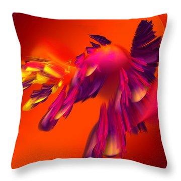 Explosion Of Hot Colors Throw Pillow by Hanza Turgul