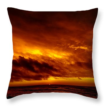 Explosive Morning Throw Pillow