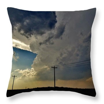 Throw Pillow featuring the photograph Explosive Texas Supercell by Ed Sweeney