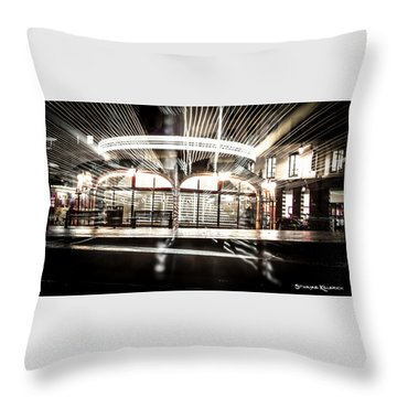 Throw Pillow featuring the photograph Explozoom On A French Carousel by Stwayne Keubrick