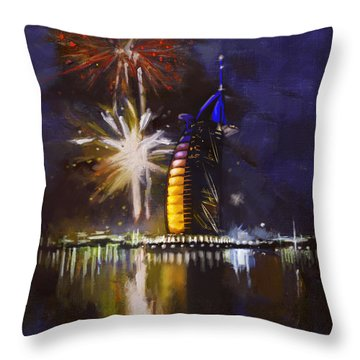 Expo Celebrations Throw Pillow by Corporate Art Task Force