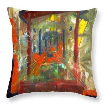Express Graffiti Throw Pillow