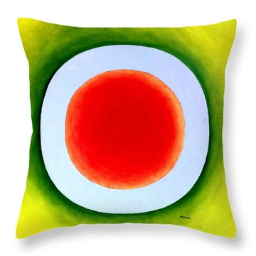 Throw Pillow featuring the painting Express Yourself by Thomas Gronowski