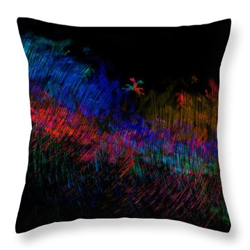 Expressions Of Color Throw Pillow by Christopher Gaston
