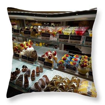 Exquisite Kyoto Desserts Throw Pillow