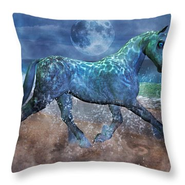 Extension Of The Sea Throw Pillow
