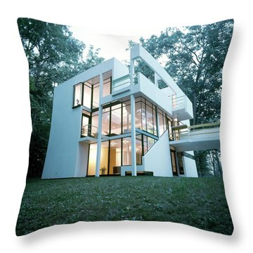 Exterior Of Mr. And Mrs. Jay Hanslemann's Throw Pillow