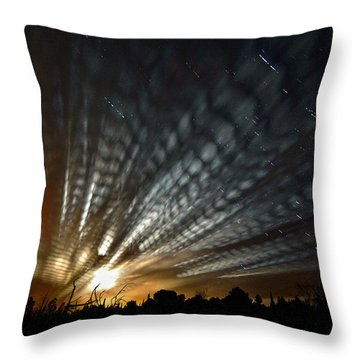 Extraterrestrial Spider Web Throw Pillow
