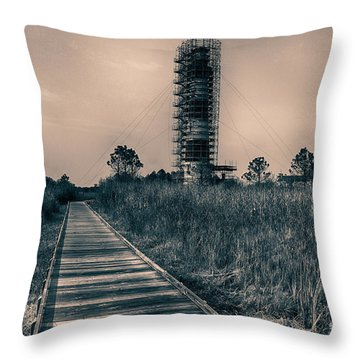 Extreme Makeover Lighthouse Edition Throw Pillow by Tony Cooper