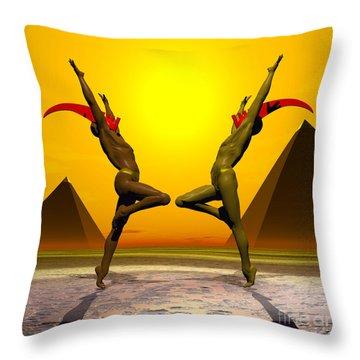 Exulting The Sun Throw Pillow