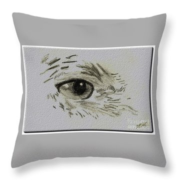 Eye - A Pencil Drawing By Marissa Throw Pillow