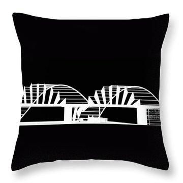 Eye Brows Throw Pillow by Marcia Lee Jones