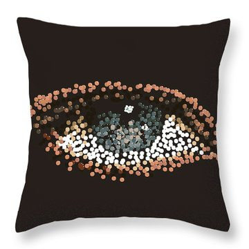 Throw Pillow featuring the digital art Eye Candy by R  Allen Swezey