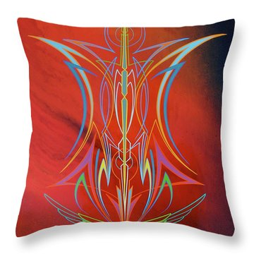 Throw Pillow featuring the painting Eye Flying by Alan Johnson