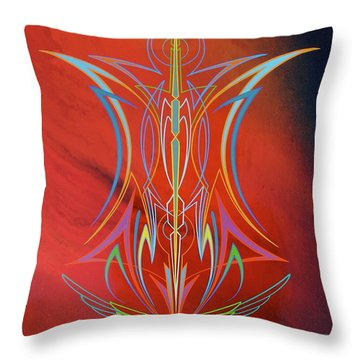 Eye Flying Throw Pillow