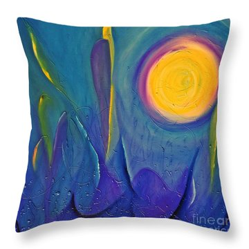 Throw Pillow featuring the painting Eye In The Sky by AmaS Art