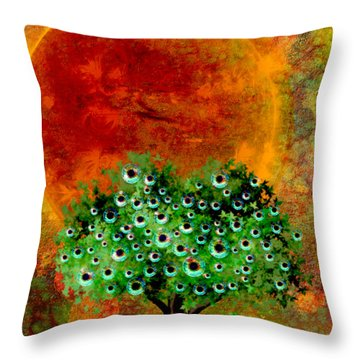 Eye Like Apples Throw Pillow by Ally  White