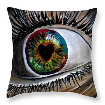 Eye Love You Throw Pillow