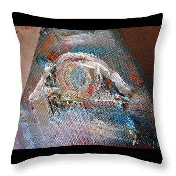 Eye Throw Pillow by Marianna Mills