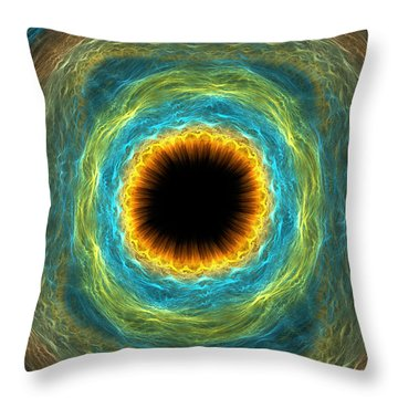 Eye Iris Throw Pillow