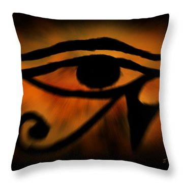 Eye Of Horus Eye Of Ra Throw Pillow