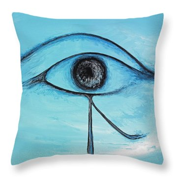 Eye Of Horus In The Sky Throw Pillow