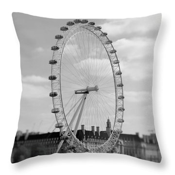 Eye Of London Throw Pillow by Gary Smith