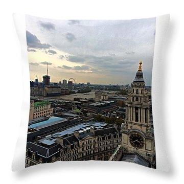 Eye Of London  Throw Pillow