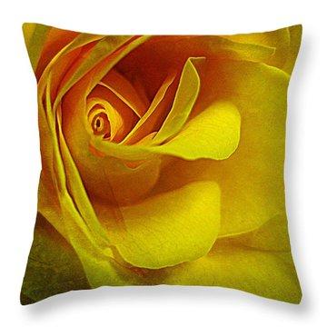 Eye Of Rose Throw Pillow