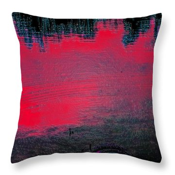 Create Reality Abstract Throw Pillow