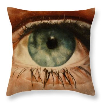 Eye Of The Beholder Throw Pillow by Cherise Foster