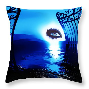 Throw Pillow featuring the digital art Eye Of The Beholder by Eddie Eastwood