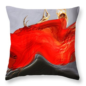 Throw Pillow featuring the digital art Eye Of The Beholder by Richard Thomas