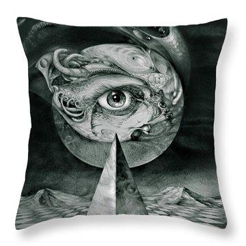 Eye Of The Dark Star Throw Pillow