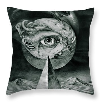 Eye Of The Dark Star Throw Pillow by Otto Rapp