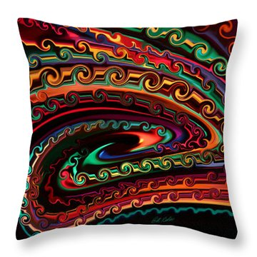 Throw Pillow featuring the photograph Eye Of The Dragon by Bill Kesler