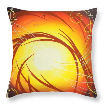 Eye Of The Hurricane Throw Pillow