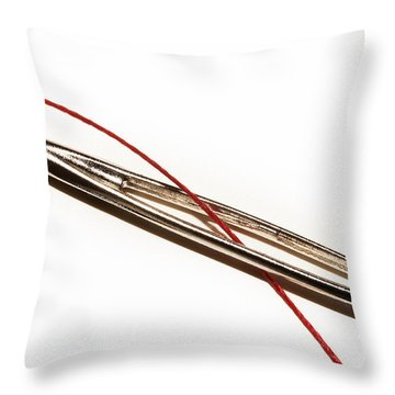 Eye Of The Needle Throw Pillow