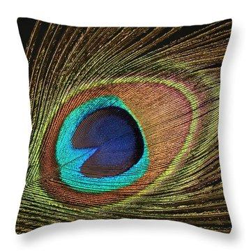 Eye Of The Peacock #5 Throw Pillow