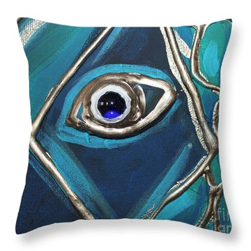 Eye Of The Peacock Throw Pillow