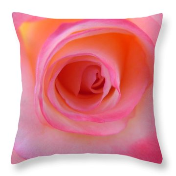 Throw Pillow featuring the photograph Eye Of The Rose by Deb Halloran