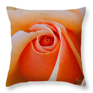 Eye Of The Rose Throw Pillow