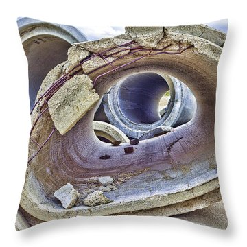 Eye Of The Saur 2 Throw Pillow