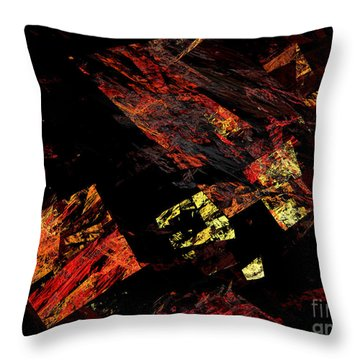 Eye Of The Storm 4 - Flying Debris - Abstract - Fractal Art Throw Pillow by Andee Design