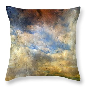 Eye Of The Storm  - Abstract Realism Throw Pillow