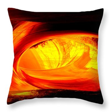 Eye Of The Tube Throw Pillow