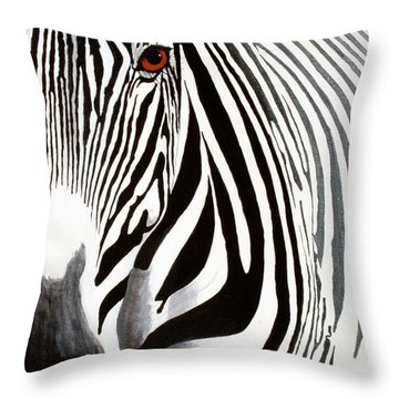 Eye Of The Zebra Throw Pillow
