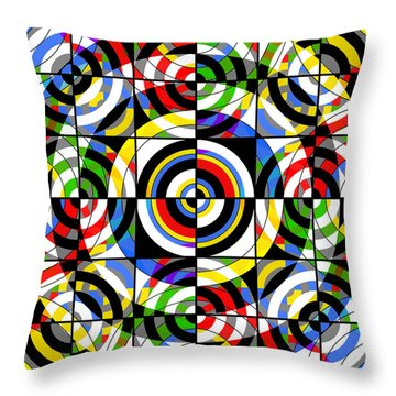 Eye On Target Throw Pillow by Mike McGlothlen