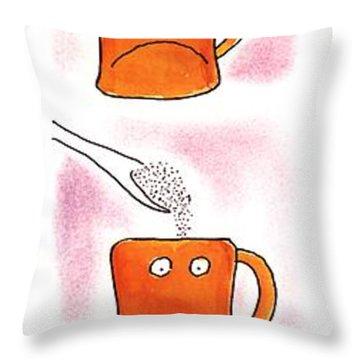 Eye-opener Throw Pillow