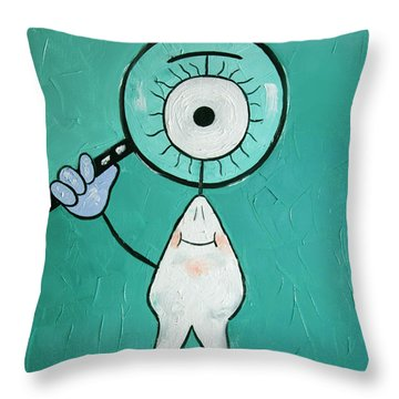 Eye Tooth  Throw Pillow by Anthony Falbo